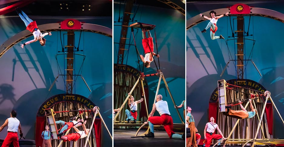 Of the contraptions from our stage show 42ft, the Russian swing is launching acrobats high into the air