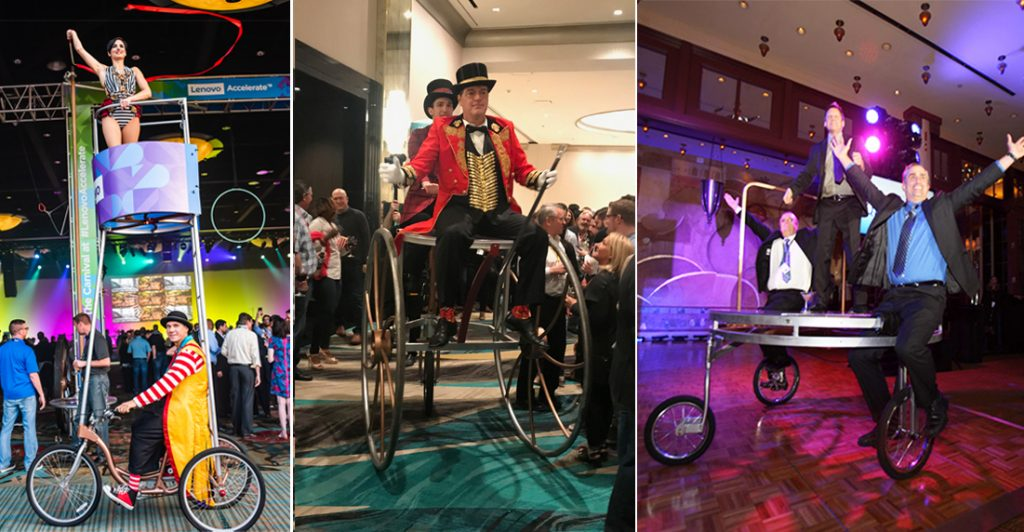 Our Chariot bike, Trike Rover and Spin cycle help to create intimate events.